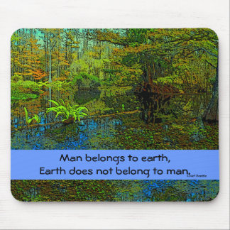 earth and man mouse pad