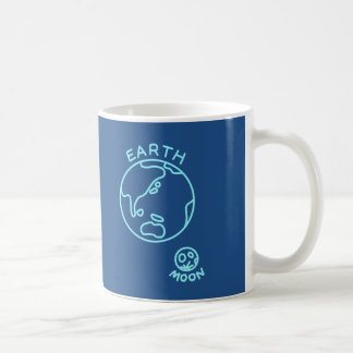 < Earth and month (color of the sea) > The earth Coffee Mug