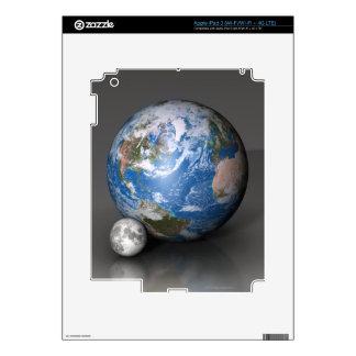 Earth and Moon 2 iPad 3 Decal