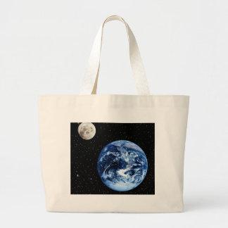 Earth and Moon Jumbo Tote Bag