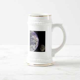 Earth and Moon by Galileo Beer Stein