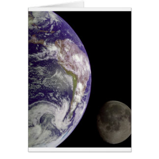 Earth and Moon by Galileo Card