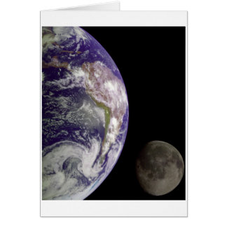 Earth and Moon by Galileo Greeting Card