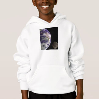 Earth and Moon by Galileo Kids Clothes Hoodie