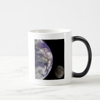 Earth and Moon by Galileo Magic Mug