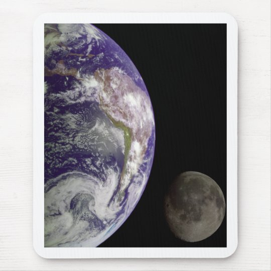 Earth and Moon by Galileo Mouse Pad