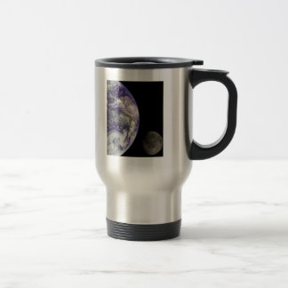 Earth and Moon by Galileo Travel Mug