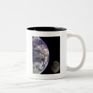 Earth and Moon by Galileo Two-Tone Coffee Mug