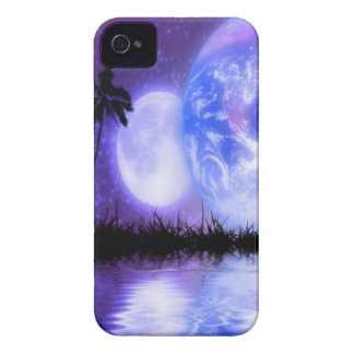 Earth and Moon Celestial iPhone Case