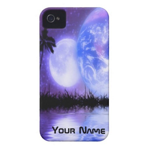 Earth and Moon Celestial iPhone Case iPhone 4 Cover