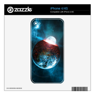 Earth and Moon Crashing Planet Formation Space Skins For The iPhone 4