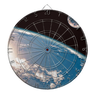 Earth and Moon Dartboard With Darts