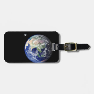 Earth and Moon from Space Bag Tag
