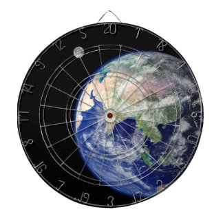 Earth and Moon from Space Dart Board