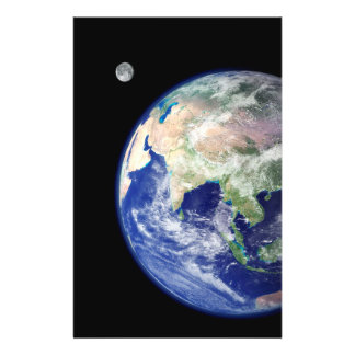 Earth and Moon from Space Flyer