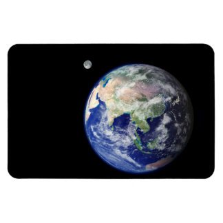 Earth and Moon from Space Rectangular Photo Magnet