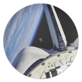 Earth and Moon from Space Shuttle Discovery Dinner Plate