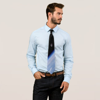 Earth and Moon from Space Shuttle Discovery Tie