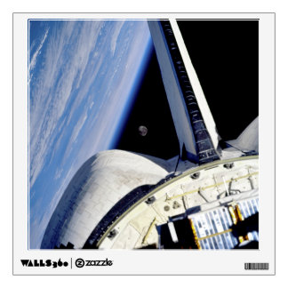 Earth and Moon from Space Shuttle Discovery Wall Sticker