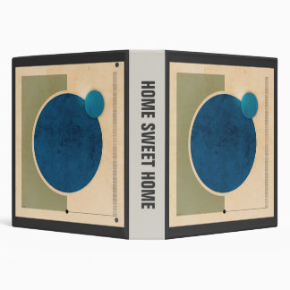 Earth And Moon Graphic 3 Ring Binder