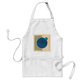 Earth And Moon Graphic Adult Apron