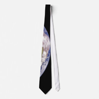 Earth and Moon in Space Tie