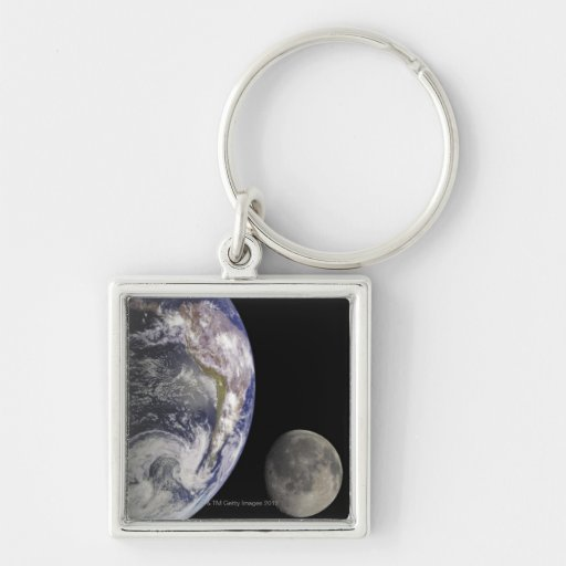 Earth and Moon Keychains