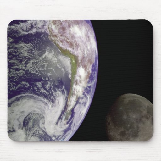 Earth and Moon Mouse Pad