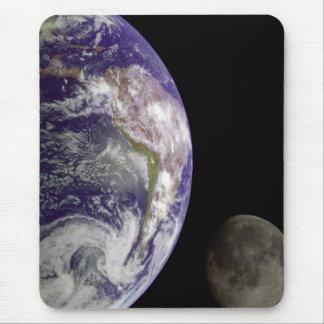 Earth and Moon Mousepad