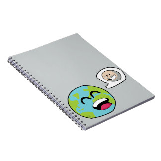 Earth and Moon Spiral Note Book