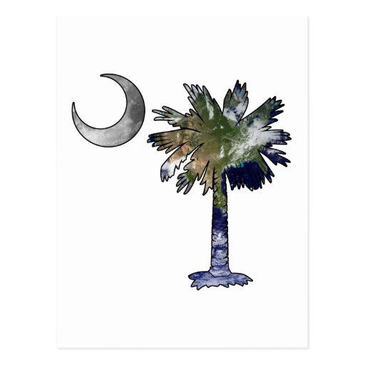Earth and Moon Palmetto Post Cards