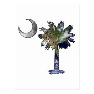 Earth and Moon Palmetto Postcard