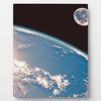 Earth and Moon Plaque