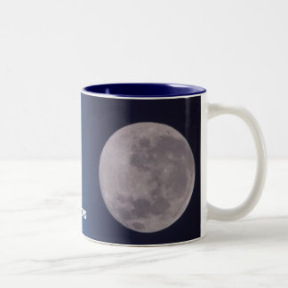 earth and moon... Two-Tone coffee mug