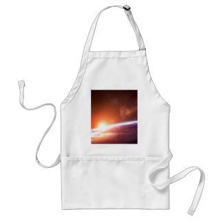 Earth and Rising Sun Adult Apron