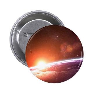 Earth and Rising Sun Button