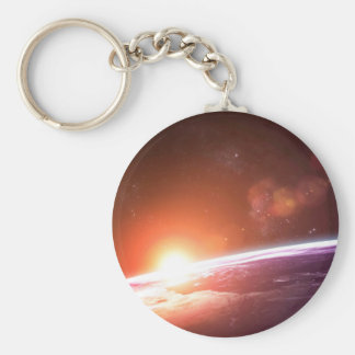 Earth and Rising Sun Keychain