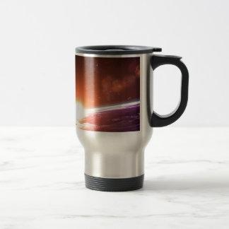 Earth and Rising Sun Travel Mug