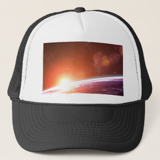 Earth and Rising Sun Trucker Hat