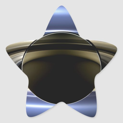 Earth and Saturn Star Sticker