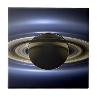 Earth and Saturn Ceramic Tile