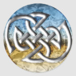 Earth and Sku Celtic Knot Classic Round Sticker