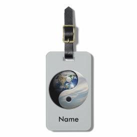 Earth and Sky Yin Yang Bag Tag