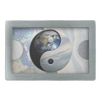 Earth and Sky Yin Yang Belt Buckles