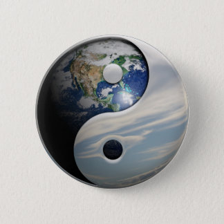 Earth and Sky Yin Yang Button