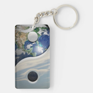 Earth and Sky Yin Yang Keychain