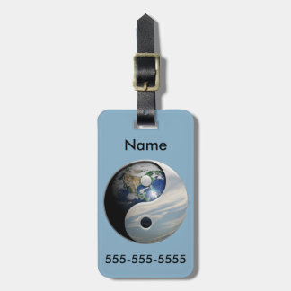 Earth and Sky Yin Yang Luggage Tag