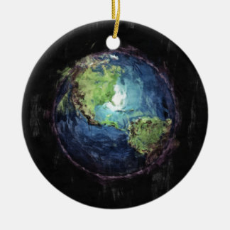 Earth And Space Ceramic Ornament