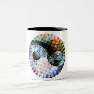 Earth And Space Two-Tone Coffee Mug