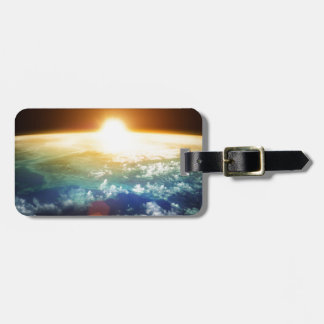 earth and sun bag tag